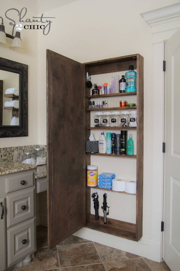 Diy Bathroom Mirror Storage Case – Shanty 2 Chic With Wall Mirrors With Storages (#9 of 15)