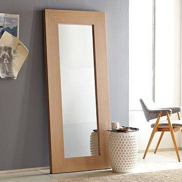 Diy Copy Cat  West Elm Leaning Floor Mirror | Kara Paslay Design Inside Leaning Wall Mirrors (#9 of 15)