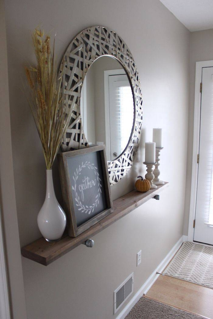 Diy Industrial Shelf | Industrial Shelves, Industrial And Shelves Inside Entry Wall Mirrors (View 7 of 15)