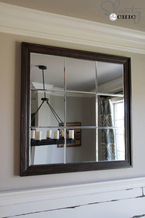 Diy Large Paneled Wall Mirror – Shanty 2 Chic With Diy Wall Mirrors (#9 of 15)