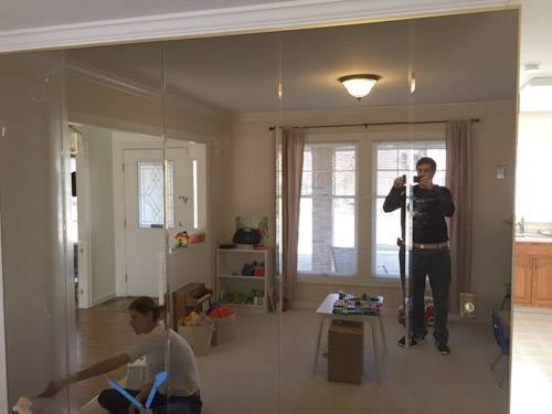 Diy Project – Removing Floor To Ceiling Mirrors From A Wall In Our Pertaining To Floor To Wall Mirrors (#13 of 15)