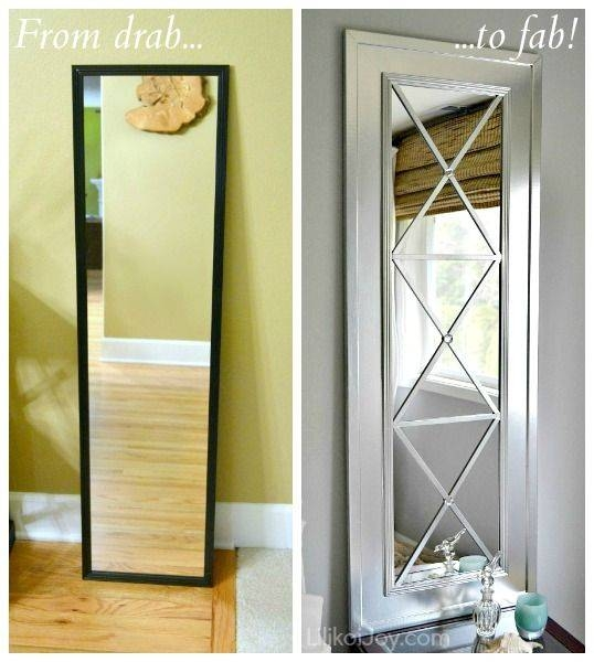 Diy Projects And Ideas For The Home | Cheap Doors, Upcycle And Doors Regarding Diy Large Wall Mirror (#14 of 15)
