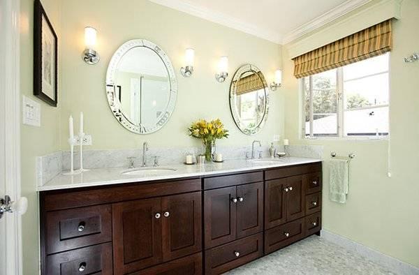 Double Vanity Bathroom Mirrors: Beautiful Pictures, Photos Of With Double Vanity Bathroom Mirrors (#8 of 15)