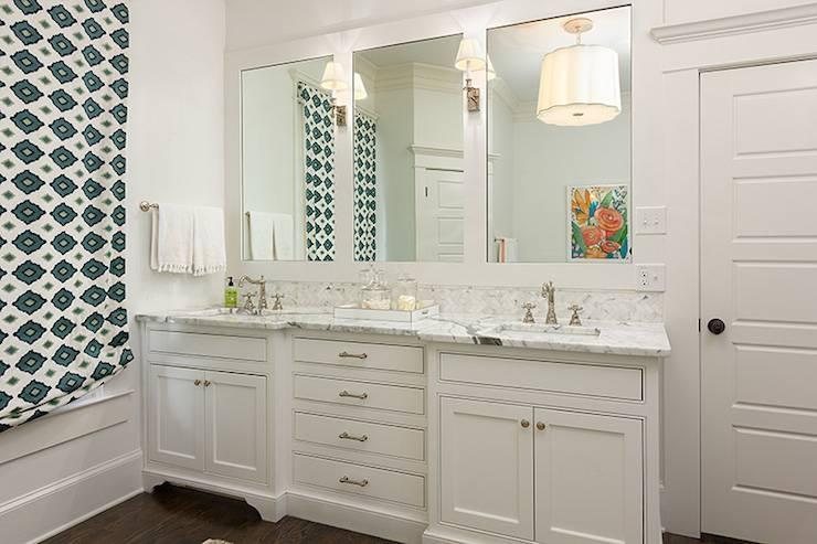 Double Vanity Ideas – Transitional – Bathroom – Colordrunk Design Within Double Vanity Bathroom Mirrors (#9 of 15)