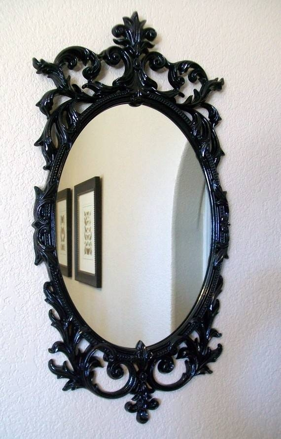 Download Black Decorative Mirrors | Gen4Congress With Black Frame Wall Mirrors (#12 of 15)
