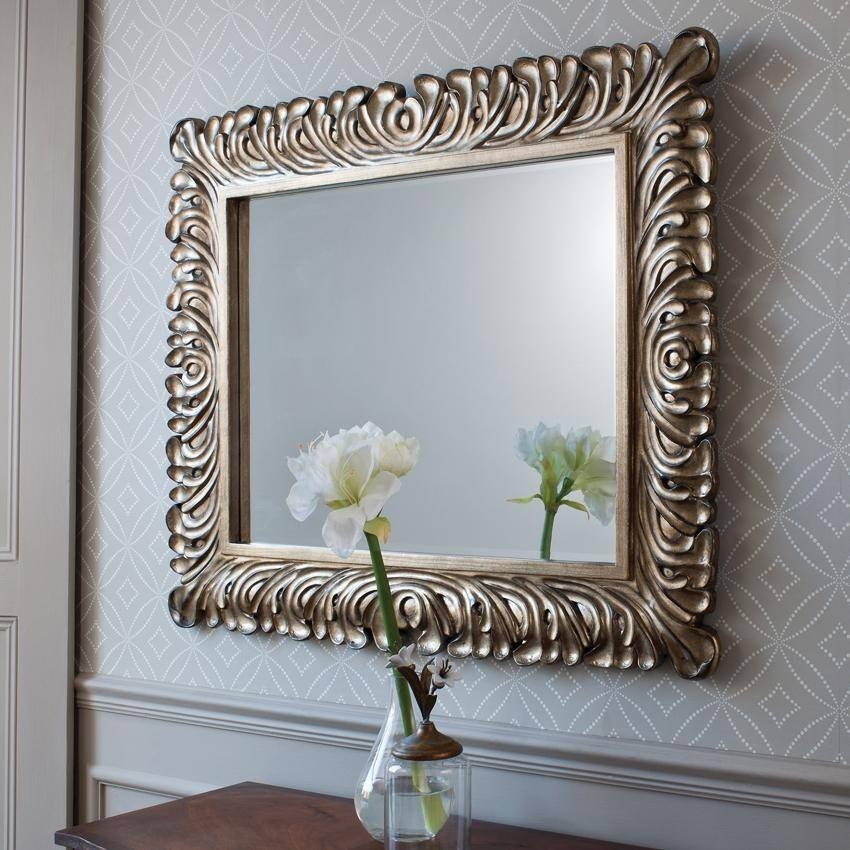Download Large Decorative Wall Mirror | Gen4Congress Inside Fancy Wall Mirrors For Sale (#10 of 15)