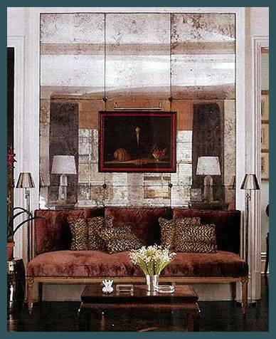 Drexler Custom Glass: Antiqued Mirrors – Atlanta, Ga Throughout Large Vintage Wall Mirrors (#10 of 15)