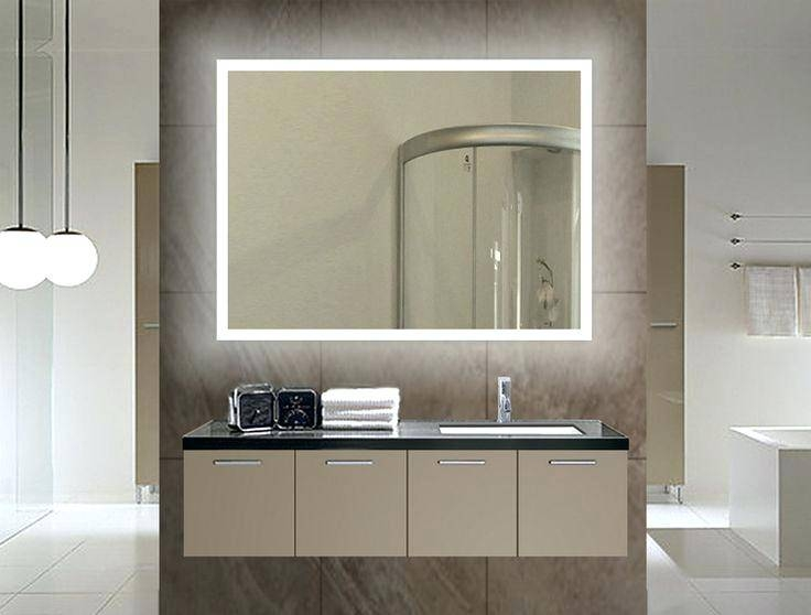 Electric Mirrors Bathroomled Bathroom Wall Mirror Rectangle X Pertaining To Lighted Wall Mirrors For Bathrooms (View 15 of 15)