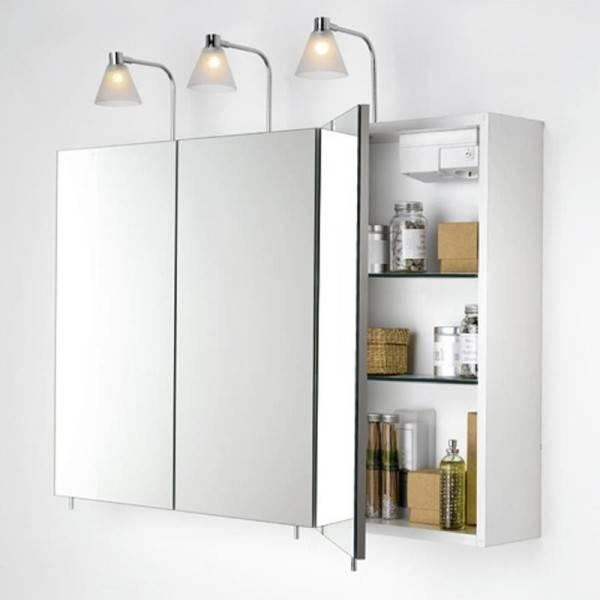 Popular Photo of Bathroom Wall Mirror Cabinets