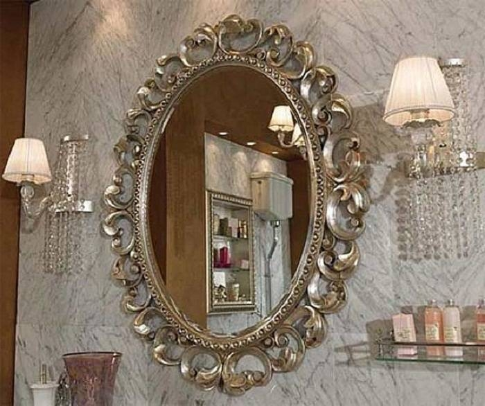 Elegant Traditional Wall Mirror For Bathrooms | Cncloans Pertaining To Elegant Wall Mirrors (#8 of 15)