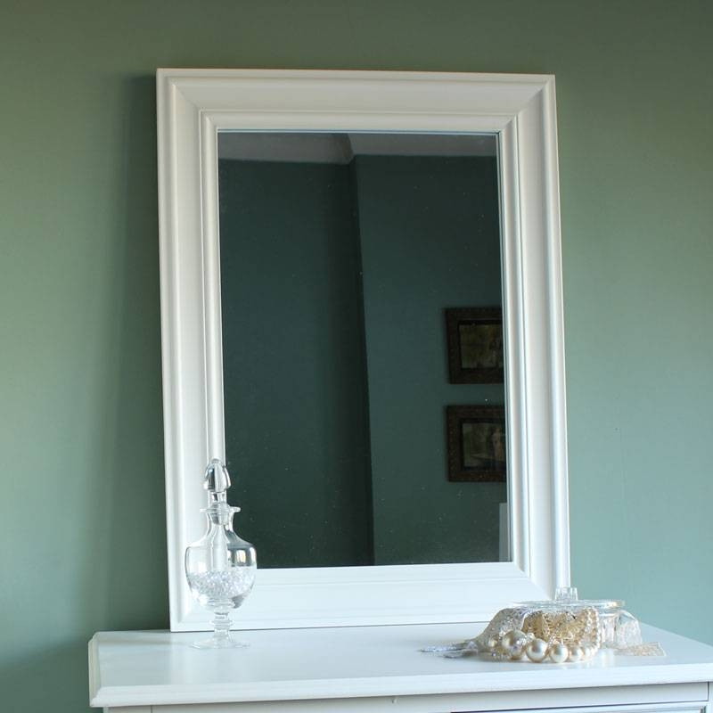 Eliza White Range – White Wall Mirror – Melody Maison® For Large White Wall Mirrors (#9 of 15)