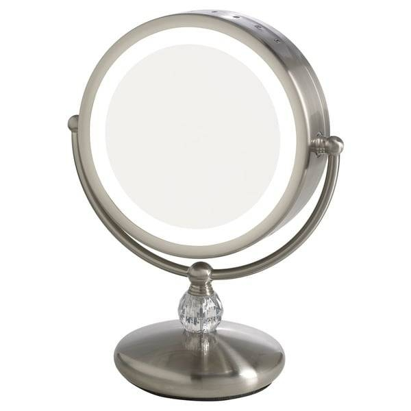 Elizabeth Arden 1X/10X Magnification Led Lighted Makeup Vanity Inside Magnified Vanity Mirrors (#8 of 15)