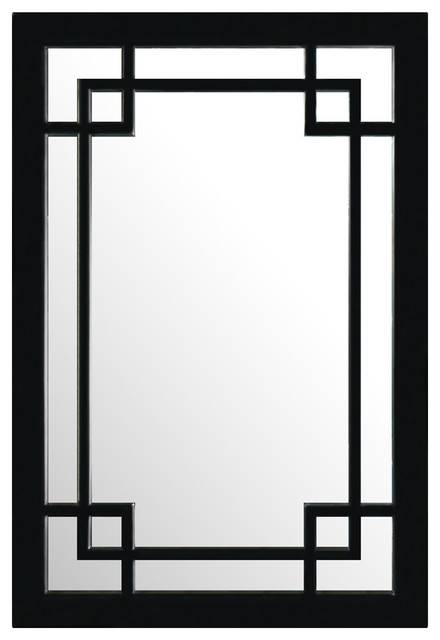 Elmwood Window Style Mirror – Asian – Wall Mirrors China In Asian Inspired Wall Mirrors (View 2 of 15)
