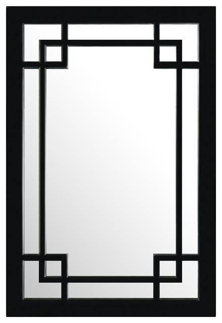 Elmwood Window Style Mirror – Asian – Wall Mirrors  China Pertaining To Asian Style Wall Mirrors (#6 of 15)