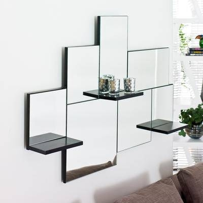 Inspiration about Enchanting 10+ Mirrored Wall Shelf Decorating Design Of Designer Regarding Wall Mirrors With Shelf (#11 of 15)