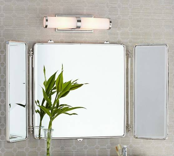 Enchanting 50+ Tri Fold Wall Mirror Decorating Inspiration Of With Regard To Tri Fold Bathroom Wall Mirrors (#6 of 15)