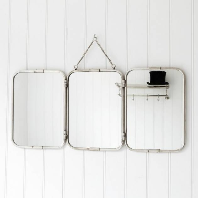 Enchanting 50+ Tri Fold Wall Mirror Decorating Inspiration Of Within Folding Wall Mirrors (#6 of 15)