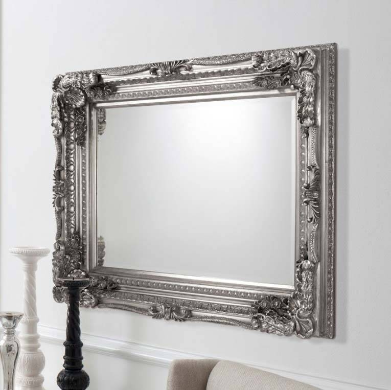 Endearing 40+ Large Silver Wall Mirror Design Inspiration Of In Black And Silver Wall Mirrors (View 10 of 15)