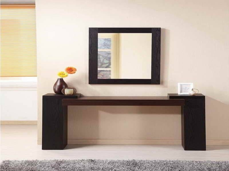 Contemporary Foyer Table And Mirror : Collection of modern hall mirrors