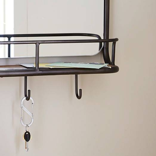 Entryway Mirror + Hooks | West Elm Regarding Wall Mirror Hooks (#6 of 15)