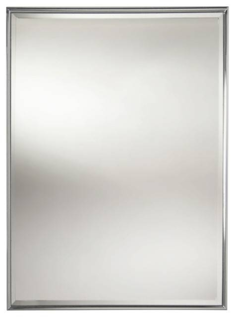Essentials Rectangular Framed Mirror With Bevel – Modern Regarding Modern Framed Mirrors (#8 of 15)