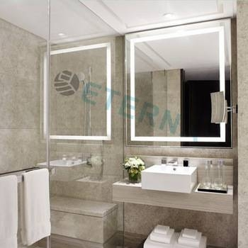 Eterna Light Up Led Clock Smart Bathroom Makeup Wall Mirror – Buy Pertaining To Light Up Wall Mirrors (#7 of 15)