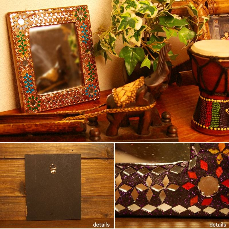 Ethnic And Asian Zakka Ajara | Rakuten Global Market: Zakka In Pertaining To Ethnic Wall Mirrors (#7 of 15)