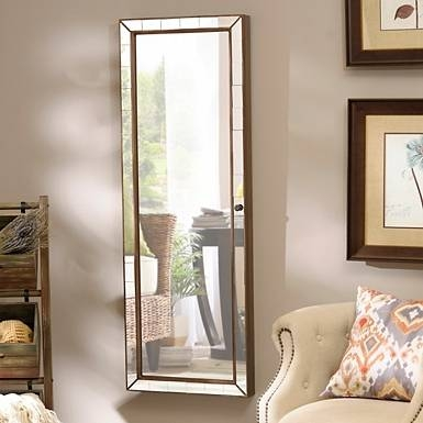 Excellent Ideas Wall Mirror Jewelry Cabinet Winsome Distressed For Jewelry Wall Mirrors (#8 of 15)