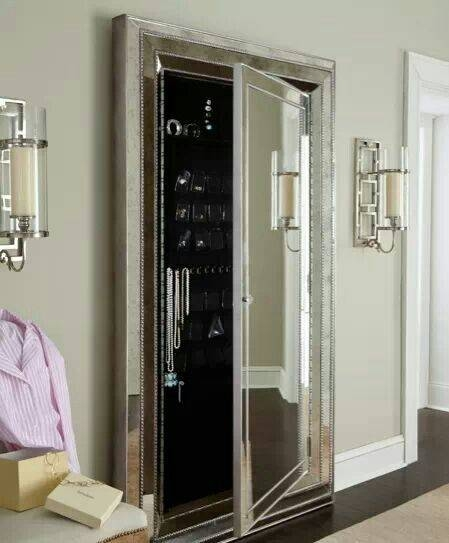 Expand Your Space (Visually) With Stylish Mirrors | Hidden Jewelry With Regard To Wall Mirrors With Storages (#10 of 15)