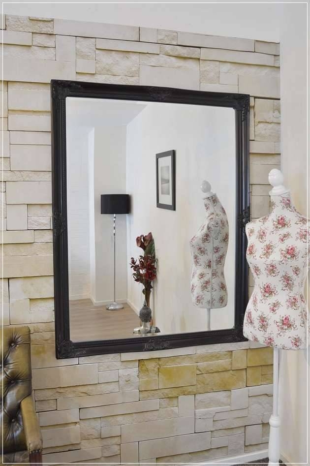 Extra Large Black Wall Mirror – Express Air – Modern Home Design For Large Black Wall Mirrors (#7 of 15)