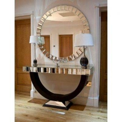 Popular Photo of Large Circular Wall Mirrors