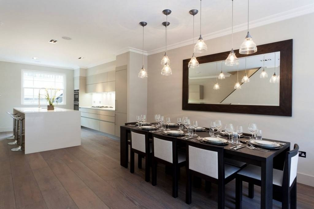 Extra Large Wall Mirrors For Dining Room With Mini Pendant Lights With Regard To Kitchen Wall Mirrors (#8 of 15)
