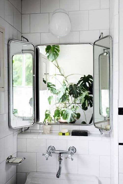 Extraordinary Tri Fold Bathroom Wall Mirror 15 Gorgeous And Within Tri Fold Bathroom Wall Mirrors (#7 of 15)