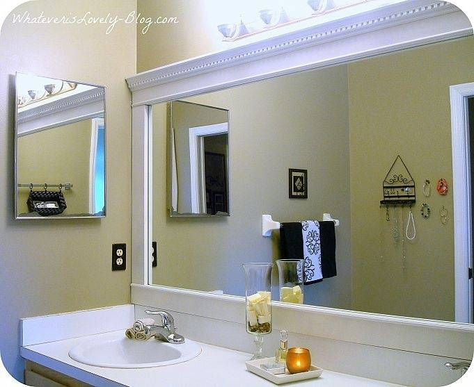 Extremely Creative Frames For Large Bathroom Mirrors Best 20 Frame Throughout Frames For Bathroom Wall Mirrors (#8 of 15)