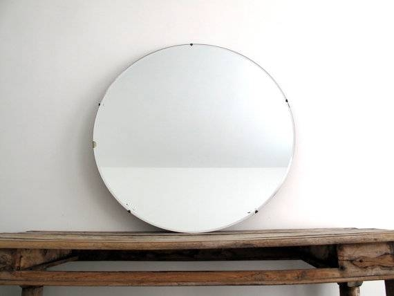 Inspiration About Fair 30 Circle Wall Mirror Design Of Metal Framed Throughout Frameless Round