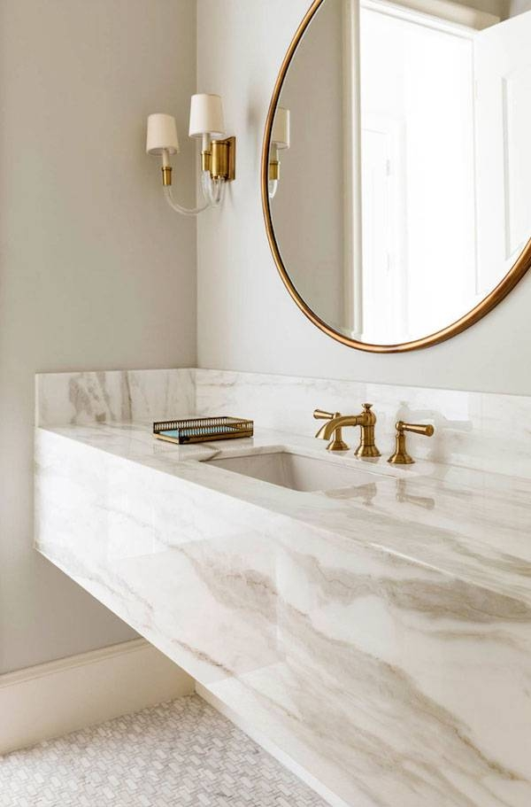 Fall's Bathroom Trend: Round Mirrors – 24 East Intended For Round Mirrors For Bathroom (View 8 of 15)