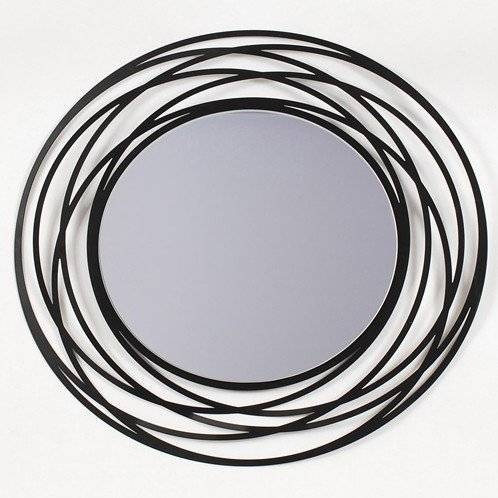 Fancy Decorative Mirror Designs Intended For Decorative Black Wall Mirrors (#9 of 15)