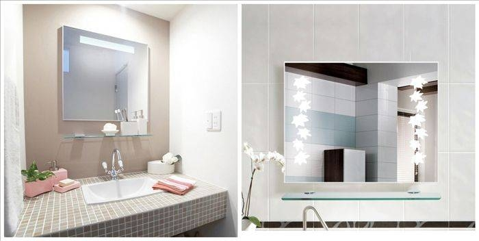 Fancy Inspiration Ideas Vanity Wall Mirrors For Bathroom Frameless Within Vanity Wall Mirrors (#5 of 15)