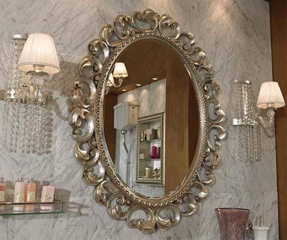 Fancy Wall Mirrors   Himalayantrexplorers With Regard To Fancy Bathroom Wall Mirrors (#11 of 15)