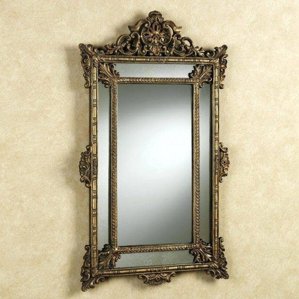 Fascinating Antique Wall Mirror Australia Vintage Wicker Round Intended For Small Vintage Wall Mirrors (View 7 of 15)