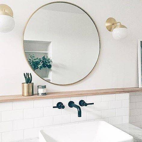 Fashionable Round Bathroom Mirrors With Lights Home Mirror – Home Regarding Round Mirrors For Bathroom (View 12 of 15)
