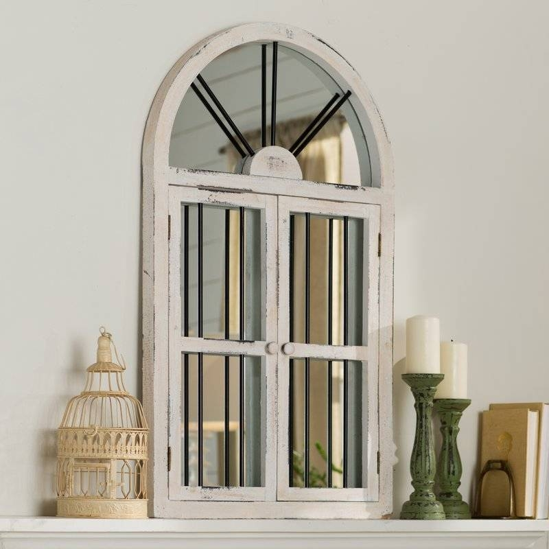 Faux Window Wood Wall Mirror & Reviews | Birch Lane For Window Wall Mirrors (#9 of 15)