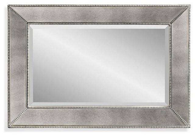 """Fillmore Small Beaded Wall Mirror, 36x24"""" – Transitional – Wall Pertaining To Rectangle Wall Mirrors (View 14 of 15)"""