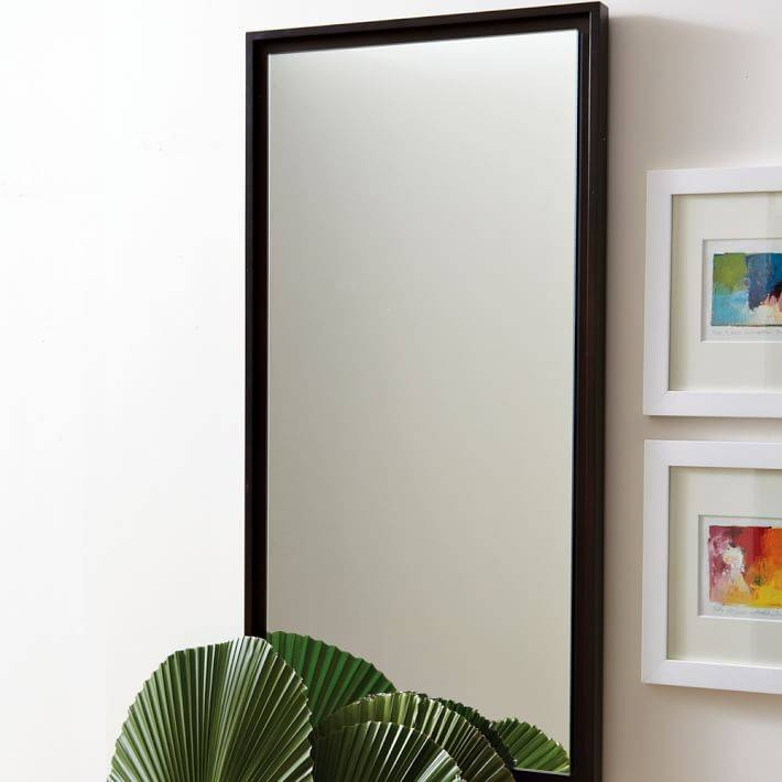 Floating Wood Wall Mirror | West Elm With Wooden Wall Mirrors (#3 of 15)