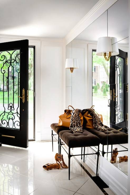 Floor To Ceiling Foyer Mirror – Transitional – Entrance/foyer Within Floor To Ceiling Wall Mirrors (#8 of 15)