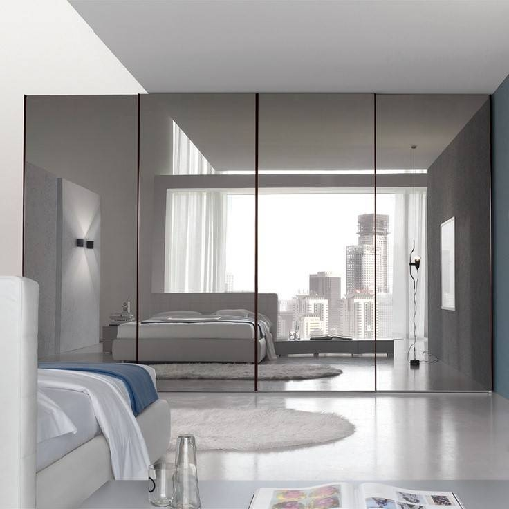 Floor To Ceiling Mirrors As Functional And Decorative Interior Regarding Big Frameless Wall Mirrors (#3 of 15)