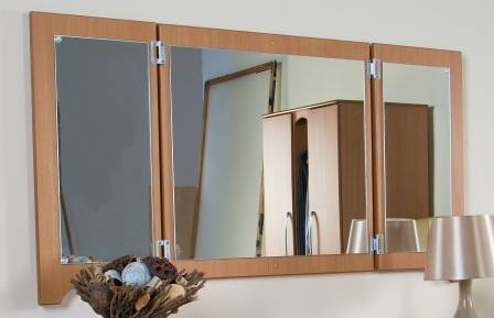 Folding Wall Mirror • Halo Dementia Range • Care Homes – Red Room Regarding Folding Wall Mirrors (#7 of 15)