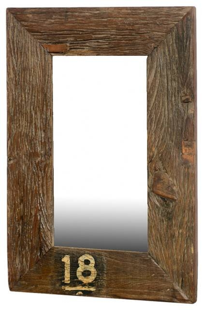 Forever 18 Rustic Wide Framed Reclaimed Wood Wall Mirror – Rustic Intended For Wooden Wall Mirrors (#4 of 15)