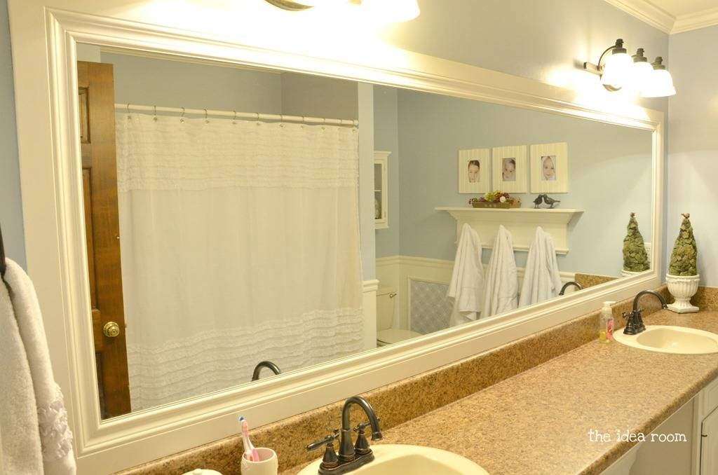 Frame Large Bathroom Mirror Comely Exterior Curtain Fresh On Frame Throughout Frames For Bathroom Wall Mirrors (#9 of 15)