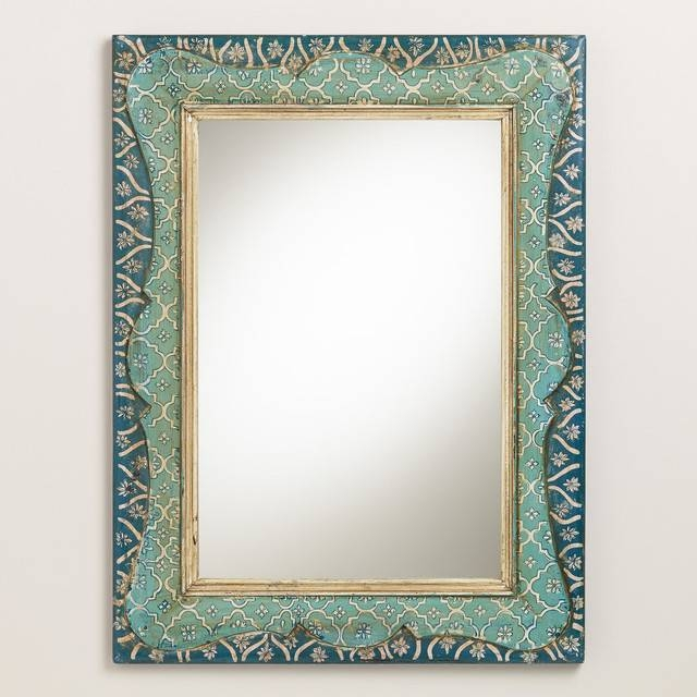 Framed Modern Mirror – More Information Regarding Hand Painted Wall Mirrors (#6 of 15)